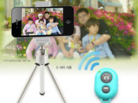Wholesale wireless Bluetooth Remote photo Camera Control Self timer AB Shutter for iPhone Galaxy S4 S3 Note3 Smart phone Android