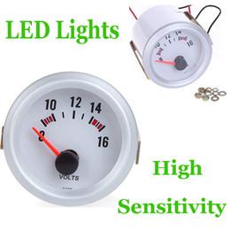 Wholesale Car Voltage Meter Gauge Voltmeter for Auto Car quot mm V Blue LED Light K1071