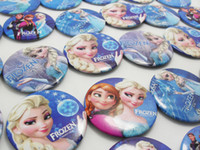 fashion Children's Gift 30pcs Children Frozen Cartoon Pin Badges Anna Elsa Princess Olaf Costume Cosplay Kids Toy Fashion Badges Wholesale Party Favor