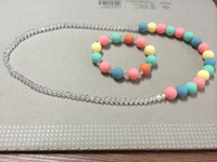 Wholesale Baby Gift Children s baby jelly bead necklace Mixed Cute Bubble Gum Beads Necklace Jewelry set