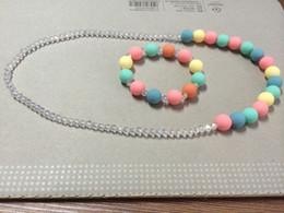 2017 colliers de perles collier de perles de gelée de bébé mixte Collier Perles Gum Bijoux mignon Bubble set 5pcs / lot pour enfants cadeau bébé colliers de perles sortie