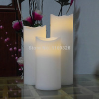 Wholesale Electronic New Giant candles LED wax battery operated pillar candle Timer home decor LED light Christmas outdoor lamps