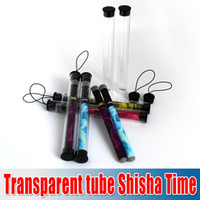 Cheap Transparent tube disposable ShiSha Time E-Hookah Pipe Pen Electronic Cigarette Smoking Pipes Stick Shisha Water E Hookah 600 Puffs hk post