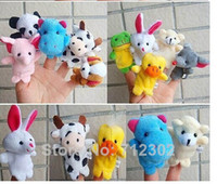 other other Plush Free Shipping Baby Plush Toy 20 pcs lot Finger Puppets Tell Story Props(10 animal group)Animal Doll  Kids Toys  Children Gift