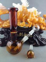 Beaker bong Vente en gros deux fonctionamber petit tuyau d'eau de verre en nid d'abeille perc verre bong pipe fumant 14mm verre en verre Livraison gratuite
