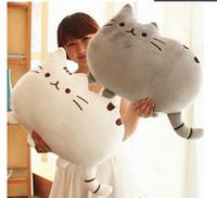 Wholesale Novelty item soft plush stuffed animal doll talking anime toy pusheen cat for girl kid kawaii cute cushion brinquedos birthday