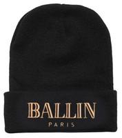 Precio de Cráneo del sombrero del esquí-Ballin Paris Beanie Sombrero De Moda Caliente De Invierno Beanies Moda De Tejido De Sombreros Hombres De Las Mujeres De Esquí De Lana Cap Casco Al Aire Libre Gorras