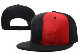 Wholesale 2014 Hot Jordans Retro Jumpman Snapback Discount Flat Caps for Men Fashion Women Hats Black and Red Split Sports Caps Allow Mix Order