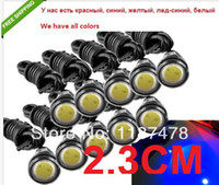 Wholesale Car DIY Cm W Waterproof Eagle Eye LED DRL Daytime Running Brake Lamps Lights DC V discount