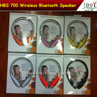 Wholesale TONE HBS Sports Stereo Bluetooth Wireless Neckband Headset Earphone In ear Headphones for Iphone s c LG samsung S5 S4 DHL Free