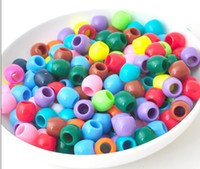 8-11 Years mixed color Plastic Best selling 500G lot 8*6MM Rainbow Loom beads Mixed Color DIY Bracelet for Kids Toys 10 colors hw001