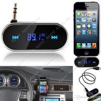 Wholesale mm Black Car Wireless FM Transmitter For iPhone S C S i Samsung Galaxy S4 MP3 TK1417