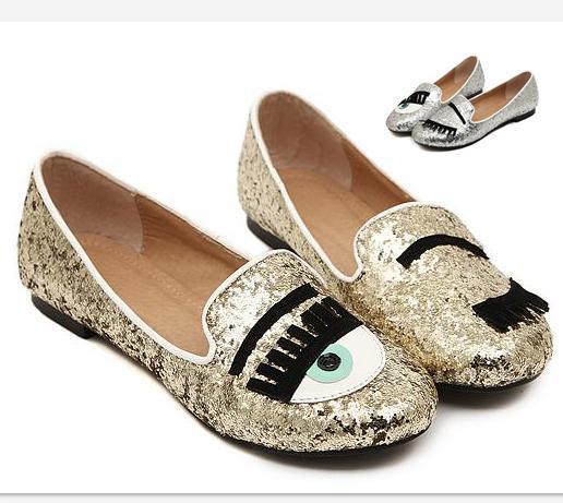 Cheap Women Flat Shoes Best Red Flat Shoes for Men - Cute Eyelash Glitter Flat Shoes Gold Silver Women Shoes Ballet