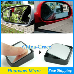 Wholesale 1Pair Push Rearview View Convex Mirror Wide Angle Sector Adjustable Auto Car Blind Spot Mirror Black Silver