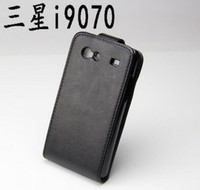 Wholesale Flip Cover Cell Phone Protective Skin PU Leather Case Skin Case Pouch For SAMSUNG GALAXY S Advanced I9070