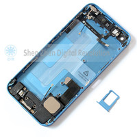Wholesale Full Housing Assembly middle frames cover for iphone complete with flex cable Battery back cover Back Cover