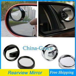 Wholesale 1Pair Rotate Truck SUV Car Blind Spot Mirror Wide Angle Round Convex Side Rear View mm Black Silver