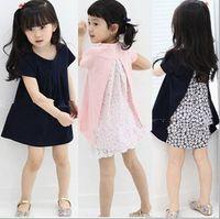 Wholesale 2014 foreign trade children s clothing the original list Girls bats fair maiden dress with short sleeve Princess dress