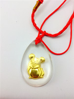 Wholesale Rat Crystal K gold inside pendant charms cartoon twelve chinese zodiac Business gifts festival gift staff welfare tourism souvenir