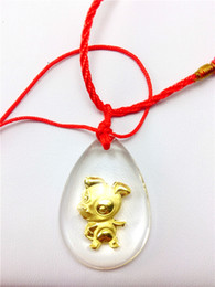Dog Crystal 24K gold inside pendant charms cartoon twelve chinese zodiac Business gifts, festival gift, staff welfare, tourism souvenir