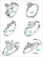 Wholesale Mix Endless Love Ring New CZ Diamonds Beautiful Sterling Silver Imperial Crown King Quality Rings Fashion Jewelry