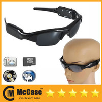 Wholesale Spy Sunglasses DVR HD P Camcorder Glasses Camera Mini DVR DV Audio Video Cam With Hidden Camera Micro External SD Card