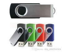 Wholesale DHL silver metal swivel GB GB USB Flash drives USB Flash Memory Pen Drives Sticks Disks Pendrives