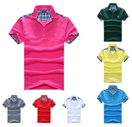 Wholesale hot selling new arrival summer t shirt men short sleeve t shirts Lattice letter printed male tshirt top tees Wy