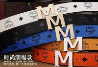 Wholesale NEW MCM Belt Men amp Women MCM Metal Buckle Cool Belts dress belts with M Shape Metal strap Buckle