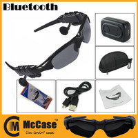 Wholesale Wireless Bluetooth SunGlasses Headset Flip UP Headphones Handfree For iPhone Samsung HTC Cell Phone DHL