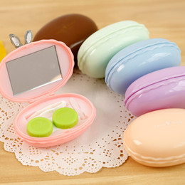 Wholesale Department of Nursing Ann home ice boxes macarons lovely companion cassette US pupil mirror contact lens case