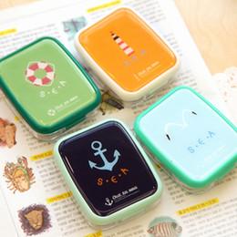 Wholesale Ann home South Korean naval air lovely stationery fresh contact lens case companion box nursing box double box