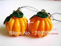 Wholesale Artificial fruit pumpkin mobile phone accessories fruit accessories mobile phone chain