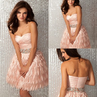 Reference Images Sweetheart Chiffon 2014 Exquisite Very Hot Cocktail Dresses Sweetheart Sleeveless Fuffle Crystal Peplum A Line Backless Zipper Short Chiffon Prom Gowns Popular