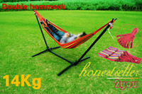 Wholesale New Double Steel Hammock Frame Stand Set With double Hammock amp carry bag