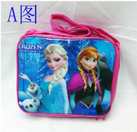 Wholesale Frozen Peppa Pig Kids Cartoon Lunch Box Set Nylon Cartoon Lunch bag frozen lunch bag