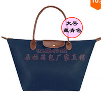 Wholesale folding shoulder nylon bag waterproof dumplings handbag shopping bag all match formal beach bag