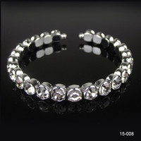 Wholesale 2014 New Arrival Best Selling Cheap Bow Rhinestone Crystal Bangle Bracelet Wedding Party Bridal Jewelry Accessories
