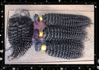 Wholesale A grade Kinky Curly Virgin Hair Piece Lace Top Closure with Hair Bundle Brazilian Virgin Hair Curly Shipping Free