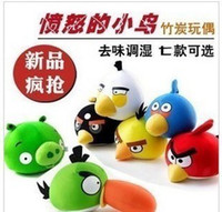 Wholesale 10pcs Angry Birds Bamboo Charcoal Bag Car Freshener Charcoal Package Bag Bamboo Charcoal Doll Car Accessories W020