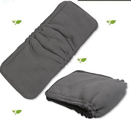 Wholesale Bamboo Charcoal inserts with gussets Baby Cloth Diaper pads Nappy Inserts