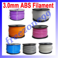 3.0mm ABS China (Mainland) Brother 3.0mm ABS Filament with Spool 1kg for 3D Printer MakerBot, RepRap and UP FZ0616 Free Shipping