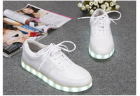 Wholesale 2014 hot selling Fashion Brand Simulation luminous shoes couple USB rechargeable LED light casual shoes soles