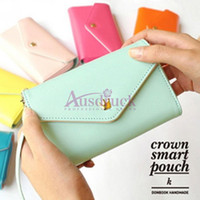 Wholesale Promotional Crown wallet purse can be put coins and iphones high quality you need it