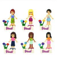 Plastics educational toys for children - Girl Friends Figures Building Block Sets Educational DIY Bricks Toys For Children Christmas