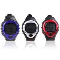 Unisex calorie counter watch - Red Silver Blue Wristwatches Men Women Dress Watches Calorie Counter Fitness Pulse Heart Rate Monitor Sport Exercise Watch H10513