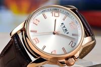 Fashion eyki - EYKI E Times Luxury Leather Quartz Watch Female White amp Coffee H8658