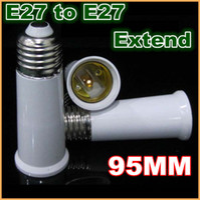 abs extension - 10pcs E27 to E27 Socket Light Bulb Lamp Holder Adapter Plug Extender extend Extension Lamp holder fire proof material