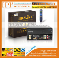 Wholesale VLC media player DVB S2 support wifi turbo PSK build in LINUX system azlink hd s1 better than JYNXBOX ULTRA HD V5