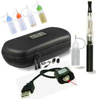 Multi Metal  EGO CE4 Starter Kit E-Cig Electronic Cigarette Zipper Case package Single Kit 650 900 1100mah